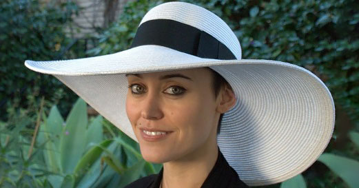 women's white picture hat