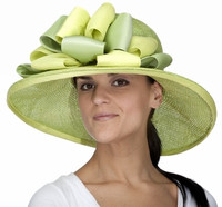Marla Hat in Green by Christine A. Moore