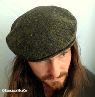 Irish Green Donegal Tweed Ivy Cap