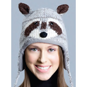 15d537899e8aab Raccoon Hat, Knit Original Delux Knitwits