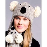 Knit Koala Bear Hat, Original Delux Knitwits