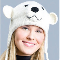 Spirit Bear Knit Hat, Original Delux Knitwits