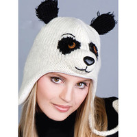 e9463813d02316 Patches the Panda Fleece-Lined Wool Knit Hat