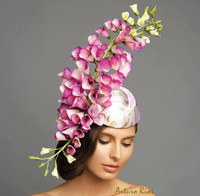 Arturo Rios Pink and Green Fascinator, Thea