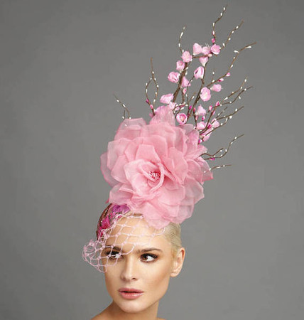 Blossom, Pink Fascinator by Arturo Rios