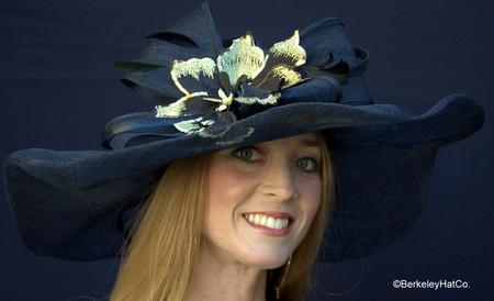Winning Santa Anita Flowered Hat for the Derby in Black