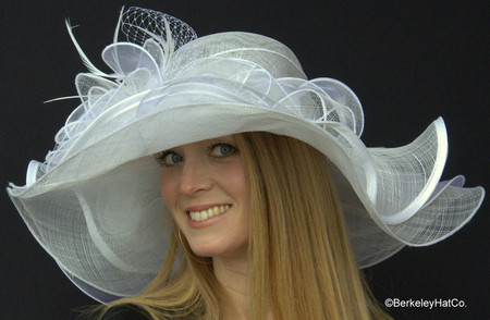 Belmont Derby Hat in White