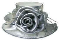 Easy Travelling Kentucky Derby Hat in Grey