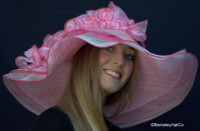 Pink Derby Bridal Shower Hat