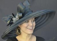Black Classy Sassy Derby Hat