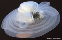 White Classy Sassy All Year Round Kentucky Derby Hat.