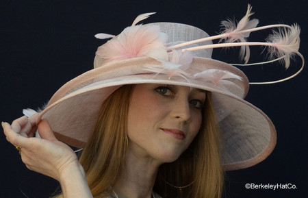 Show Stopper Derby Hat in Blush Pink
