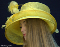 Show Stopper Derby Hat in Yellow