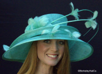 Show Stopper Derby Hat in Aqua Blue