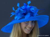 Belmont Dreams Kentucky Derby Hat in Blue