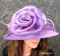Easy Travelling Kentucky Derby Hat, Purple