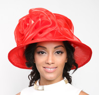 Easy Travelling Kentucky Derby Hat, Red