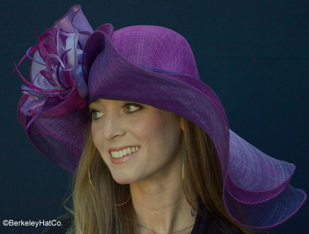 Purple Dynamic MultiColored Kentucky Derby Hat