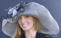 Black and Grey MultiColored Kentucky Derby Hat