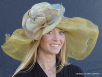 Mustard Dynamic MultiColored Kentucky Derby Hat