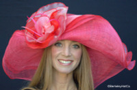 Red Dynamic MultiColored Kentucky Derby Hat