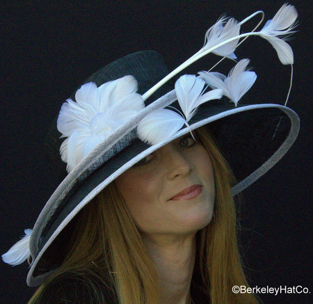 Black and White Show Stopper Derby Hat