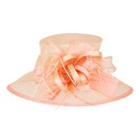 Feature Race Kentucky Derby Hat in Peach.