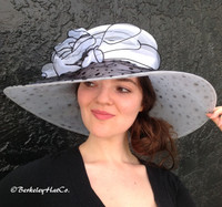 White with Black Winning Bet Hat for the Races