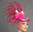 Monica, Pink Fascinator by Arturo Rios.