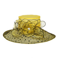 Yellow and Black Winning Bet Hat for the Races