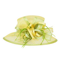Yellow with Green Feature Race Derby Hat