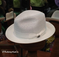 Kingsley Milan Fedora in White by Biltmore