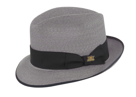 Park Ave Hemp Fedora in Pumice by Biltmore