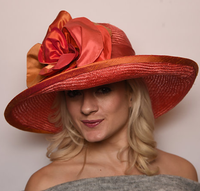 Orange Kentucky Derby Hat, Cosmo by Christine A. Moore.