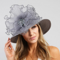 Ruffles and Pearls Year Round Church Hat