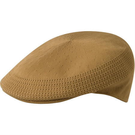 Kangol Tropic Ventair 504 Flat Cap - Tan/Camel