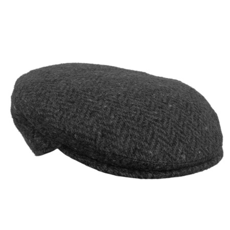 IR87 Irish flat cap warm grey front view