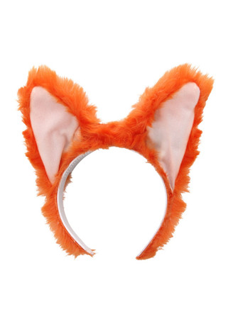 Sound activated fox ears, front view