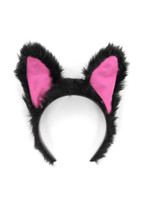 sound activated black cat ears