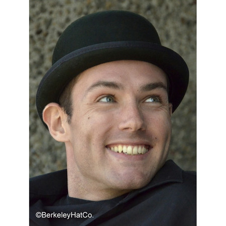 Harker Stingy Brim Derby in Black