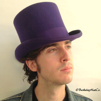 Purple Top Hat in Wool Felt