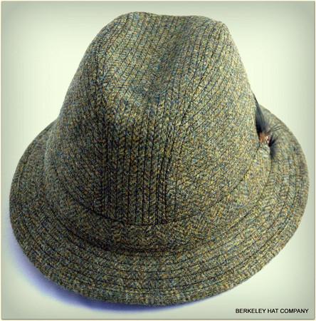 Dark Green Herringbone Irish Walking Hat