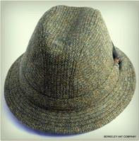 Dark Green Herringbone Irish Walking Hat (IR92)