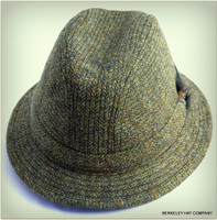 Dark Green Herringbone Irish Walking Hat
