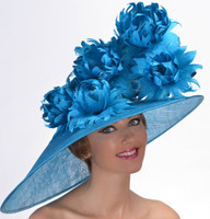 Southern Spring Derby Hat (Turquoise shown not available, Dark Teal Only)