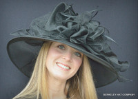 Black Shimmery Hat for the Kentucky Derby