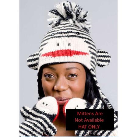 Cute Striped Sock Monkey Hat
