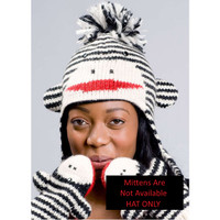 Cute Striped Sock Monkey Hat