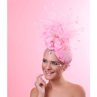 Eleonor Pink Fascinator by Arturo Rios