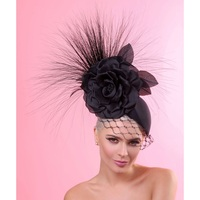 Isabella Black Fascinator by Arturo Rios